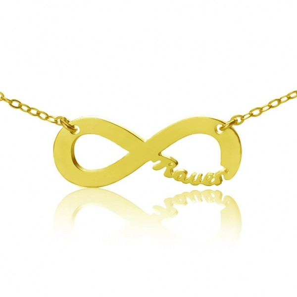 Personalised 18ct Gold Plated Infinity Name Necklace - AMAZINGNECKLACE.COM
