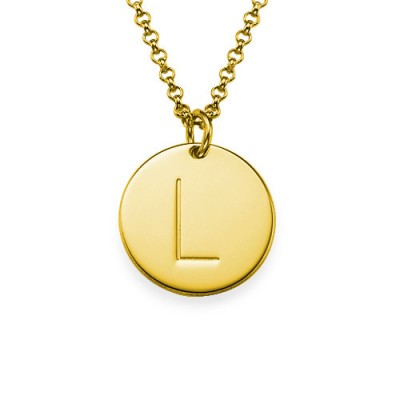 18k Gold Plated Initial Charm Personalised Necklace - AMAZINGNECKLACE.COM