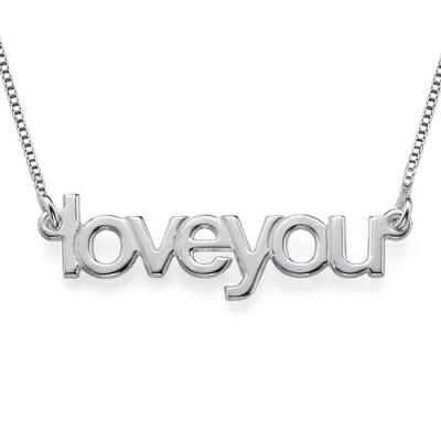 I Love You Personalised Necklace - AMAZINGNECKLACE.COM