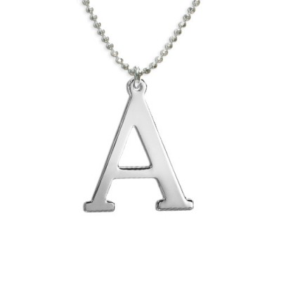 Initials Personalised Necklace in Silver - AMAZINGNECKLACE.COM