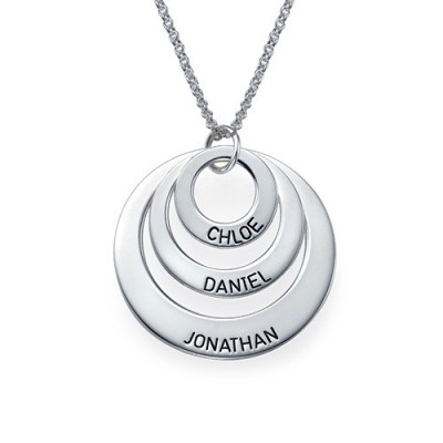 Jewellery for Mums - Three Disc Personalised Necklace - AMAZINGNECKLACE.COM
