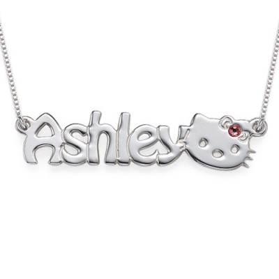 Kitten Nameplate Personalised Necklace for Girls - AMAZINGNECKLACE.COM