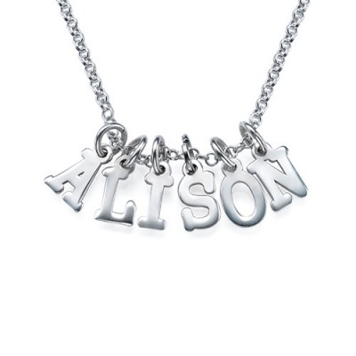 Multiple Initial Personalised Necklace in Silver - AMAZINGNECKLACE.COM