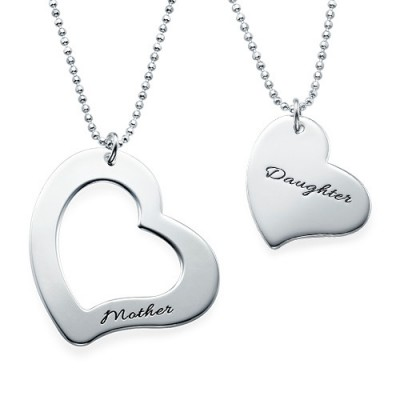 Mum is My Heart Mother Daughter Personalised Necklaces - AMAZINGNECKLACE.COM