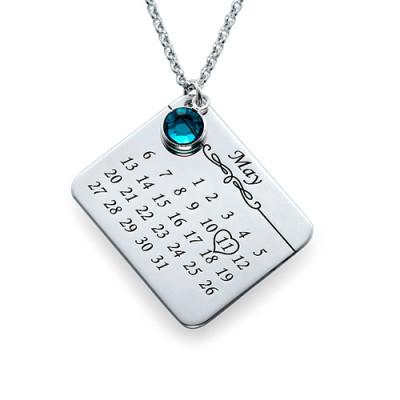 My Birthday Personalised Necklace - AMAZINGNECKLACE.COM