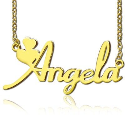 Personalised Solid Gold Fiolex Girls Fonts Heart Name Necklace - AMAZINGNECKLACE.COM