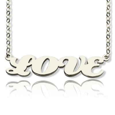 Capital Name Plate Personalised Necklace Sterling Silver - AMAZINGNECKLACE.COM