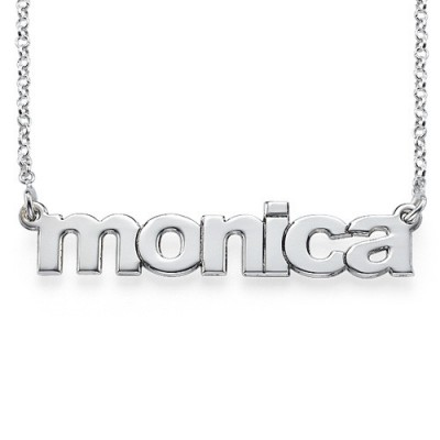 Nameplate Personalised Necklace in Lowercase Font - AMAZINGNECKLACE.COM