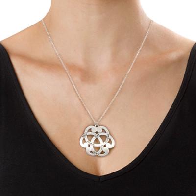 Silver Engraved Arabesque Personalised Necklace - AMAZINGNECKLACE.COM