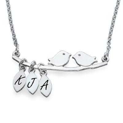Personalised Mum Jewellery – Silver Bird Necklace - AMAZINGNECKLACE.COM