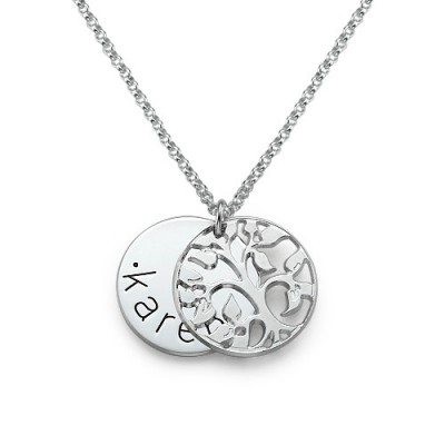 Personalised Family Necklace in Silver - AMAZINGNECKLACE.COM