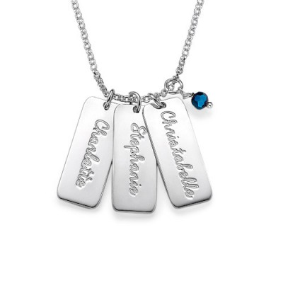Personalised Necklace with Crystal Birthstone  - AMAZINGNECKLACE.COM