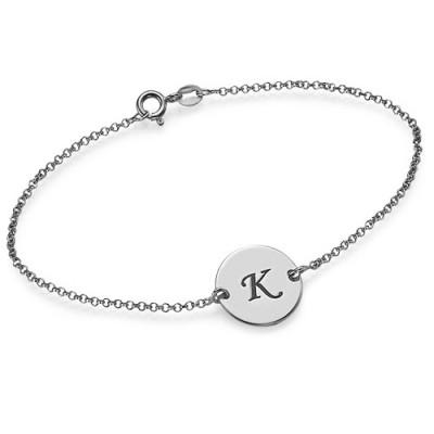 Sterling Silver Initial Personalised Bracelet/Anklet - AMAZINGNECKLACE.COM