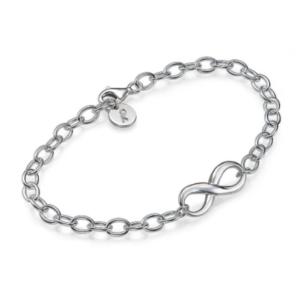 Sterling Silver Infinity Personalised Bracelet/Anklet - AMAZINGNECKLACE.COM