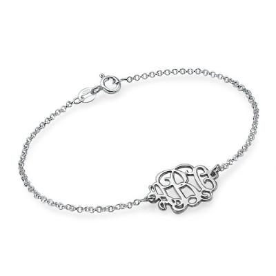 Sterling Silver Initials Personalised Bracelet /Anklet - AMAZINGNECKLACE.COM