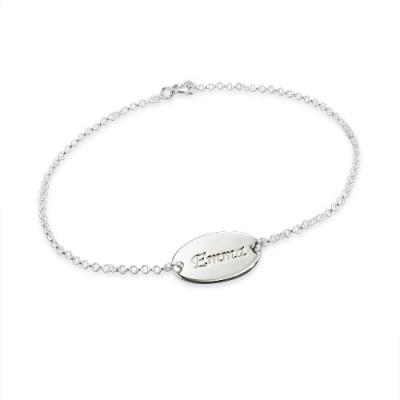 Sterling Silver Personalised Baby Bracelets/Anklet - AMAZINGNECKLACE.COM