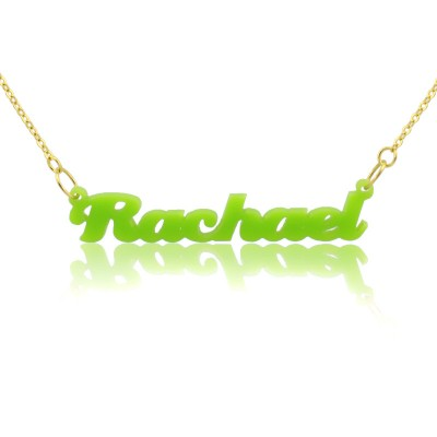 Custom Colorful Acrylic Name Personalised Necklace - AMAZINGNECKLACE.COM