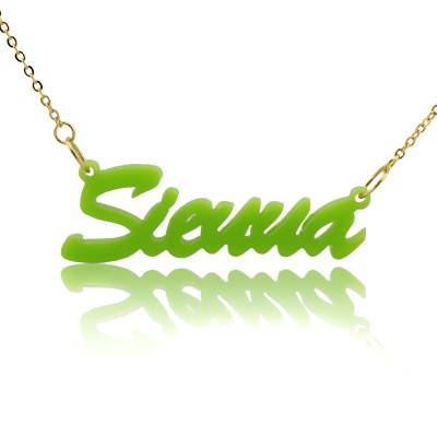Personalised Acrylic Necklace with Name - AMAZINGNECKLACE.COM