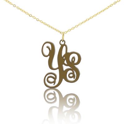 Acrylic Vine Monogram Two Initials Personalised Necklace - AMAZINGNECKLACE.COM