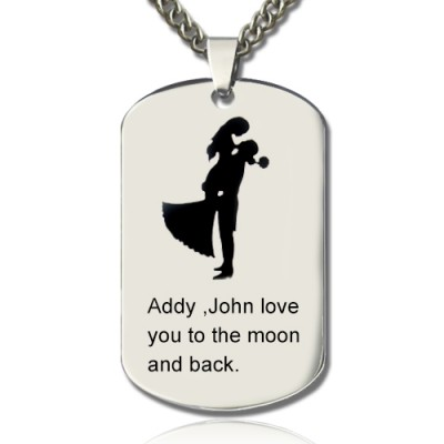 Couple Love Dog Tag Name Personalised Necklace - AMAZINGNECKLACE.COM