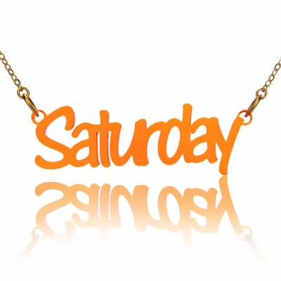 Colorful Acrylic Script Name Personalised Necklace - AMAZINGNECKLACE.COM