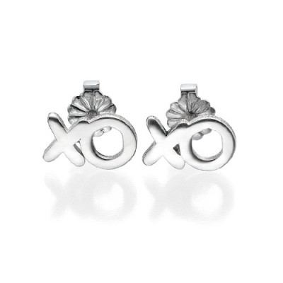 XO Silver Personalised Earrings - AMAZINGNECKLACE.COM