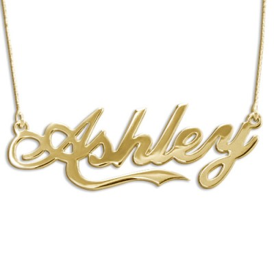 "18ct Gold Plated Silver ""Coca Cola"" Name Pendant - AMAZINGNECKLACE.COM"