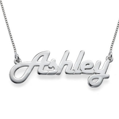 Stylish Silver Name Personalised Necklace - AMAZINGNECKLACE.COM