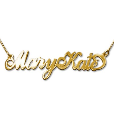2 Capital Letters 18ct Gold Name Personalised Necklace - AMAZINGNECKLACE.COM