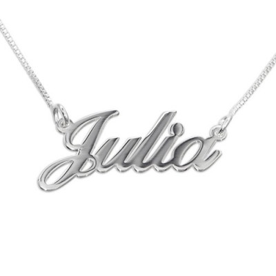 Small Personalised Classic Name Necklace In Silver/Gold/Rose Gold - AMAZINGNECKLACE.COM
