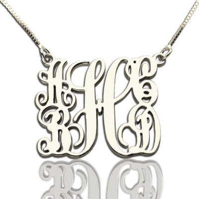 Customised 5 Initials Family Monogram Personalised Necklace Silver - AMAZINGNECKLACE.COM