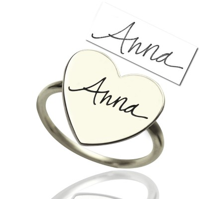 Personalised Signature Ring Handwriting Sterling Silver - AMAZINGNECKLACE.COM