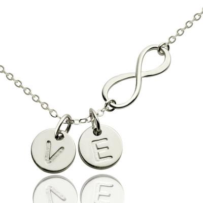 Custom Infinity Initial Personalised Necklace,Sister Personalised Necklace,Friend Personalised Necklace - AMAZINGNECKLACE.COM
