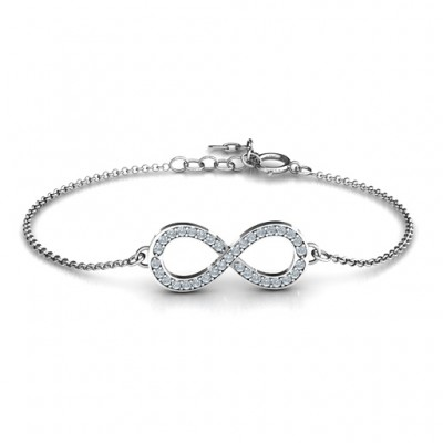 Personalised Accented Infinity Bracelet - AMAZINGNECKLACE.COM