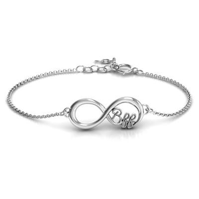 Personalised BFF Friendship Infinity Bracelet - AMAZINGNECKLACE.COM