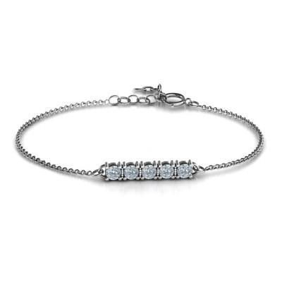 Personalised Classic 5 Birthstone Bracelet  - AMAZINGNECKLACE.COM