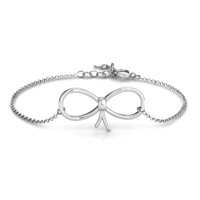 Personalised Classic Bow Bracelet - AMAZINGNECKLACE.COM