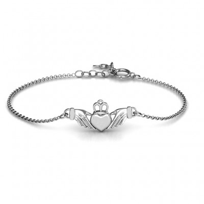 Personalised Classic Claddagh Bracelet - AMAZINGNECKLACE.COM