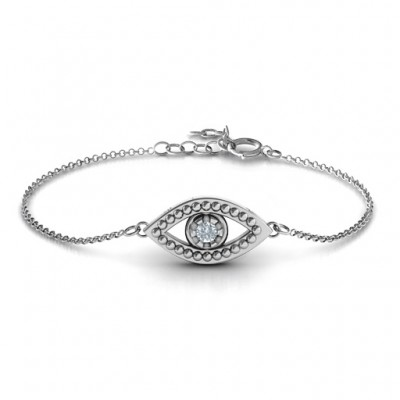 Personalised Evil Eye Bracelet - AMAZINGNECKLACE.COM