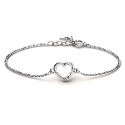 Personalised Heart 'Ahava' Bracelet - AMAZINGNECKLACE.COM