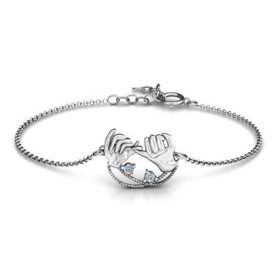 Personalised Pinky Swear Promise Bracelet - AMAZINGNECKLACE.COM