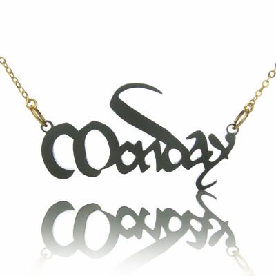 Magna Carta Style Acrylic Name Personalised Necklace - AMAZINGNECKLACE.COM
