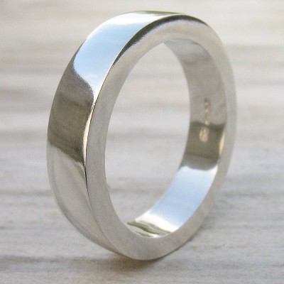 Handmade Chunky Mens Silver Personalised Ring - AMAZINGNECKLACE.COM