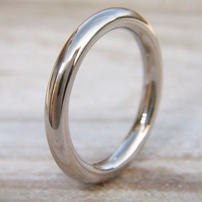 Mens Wedding Personalised Ring In 18ct White Gold - AMAZINGNECKLACE.COM