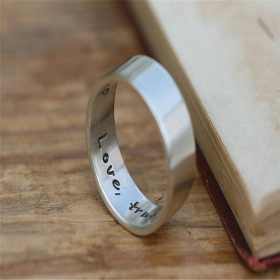 Pure And Simple Personalised Mens Ring - AMAZINGNECKLACE.COM
