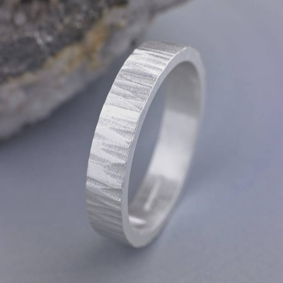 Roughed Up Personalised Ring - AMAZINGNECKLACE.COM