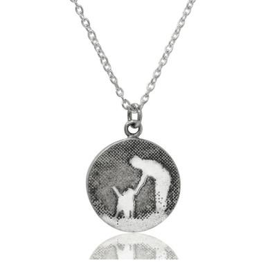 Personalised Walk With Me Dog Necklace - AMAZINGNECKLACE.COM