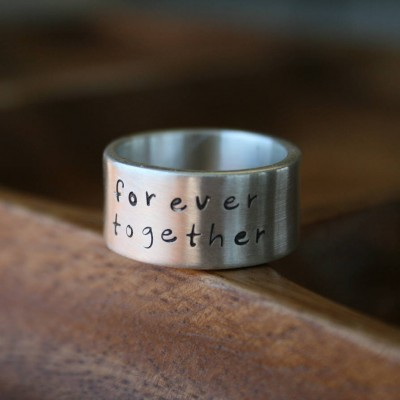 Personalised Between Us Mens Silver Ring - AMAZINGNECKLACE.COM