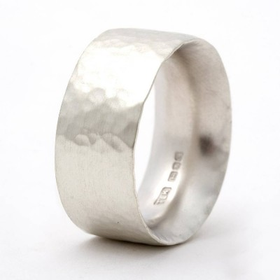 Chunky Hammered Personalised Ring - AMAZINGNECKLACE.COM