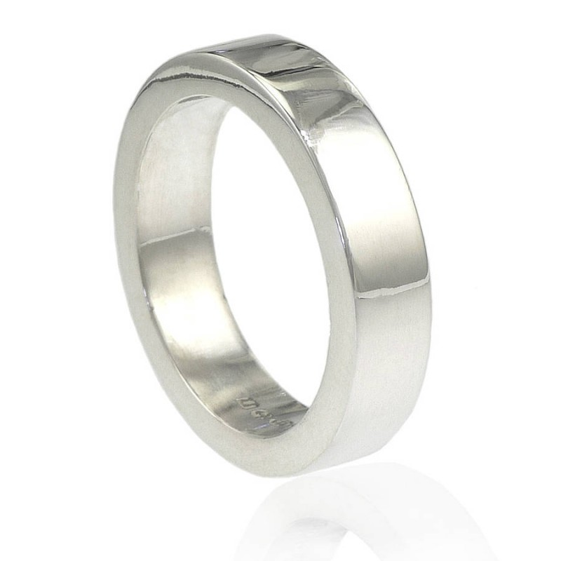 Handmade Chunky Mens Silver Personalised Ring